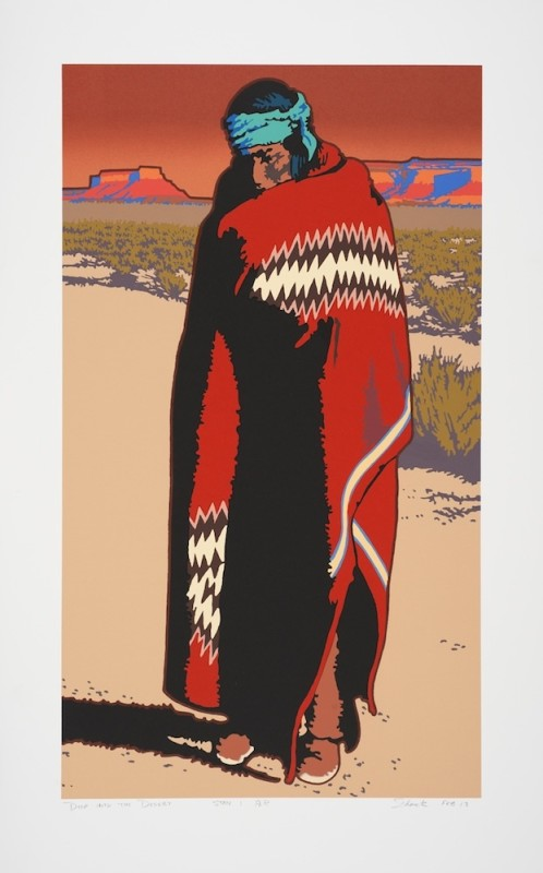 Serigraphs by Billy Schenck, Deep Into the Desert State I, #43/72