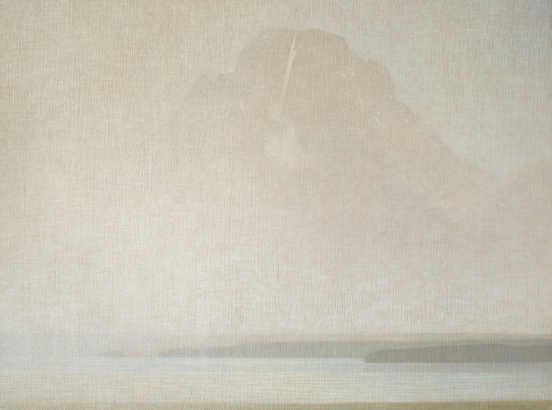 David Grossmann, Mt. Moran Through Rain
