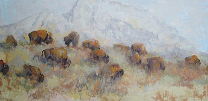 Mary Roberson, The Tetons from Antelope Flats
