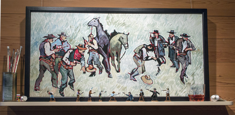 Thom Ross, At the OK Corral; After Eggenhoffer