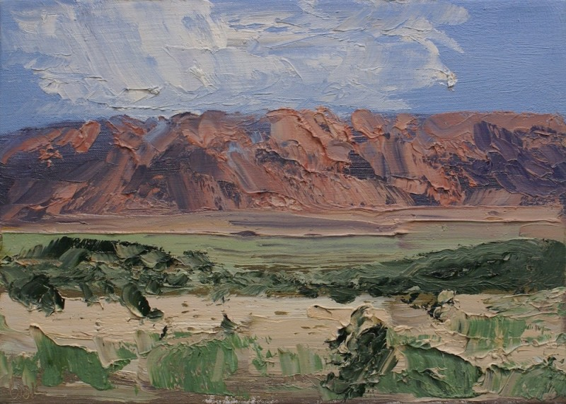 James Pringle Cook, Vermillion Cliffs Study