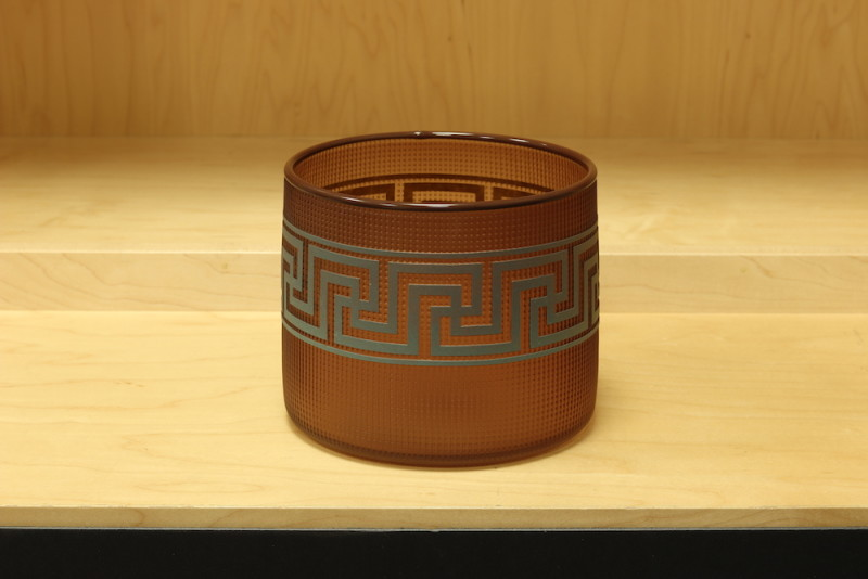 Preston Singletary, Tlingit Berry Basket:#B18-37:Tea/Dark Maroon Lip