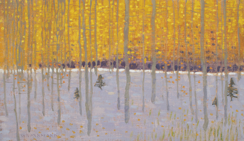 David Grossmann, Orange Leaves and First Snow
