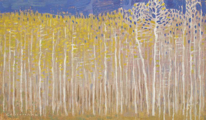 David Grossmann, Autumn Grove with Blue Sky