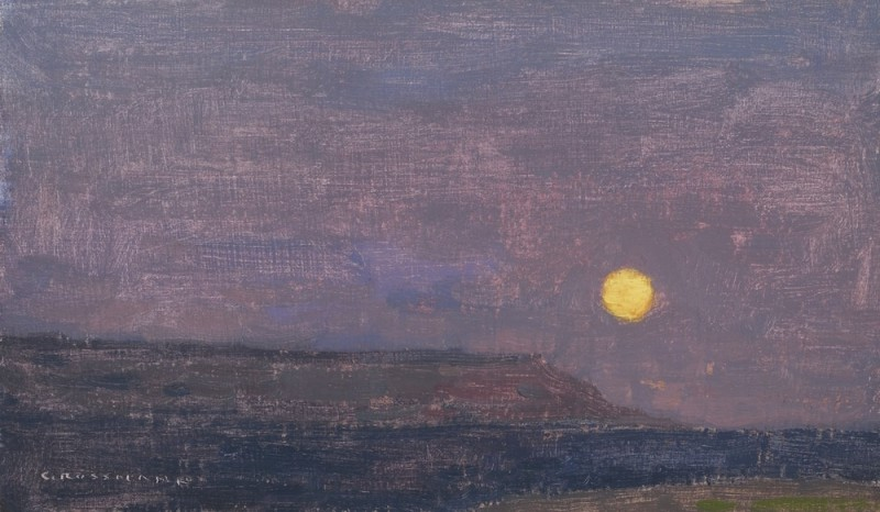 David Grossmann, Yellow Moon with Fading Cliffs