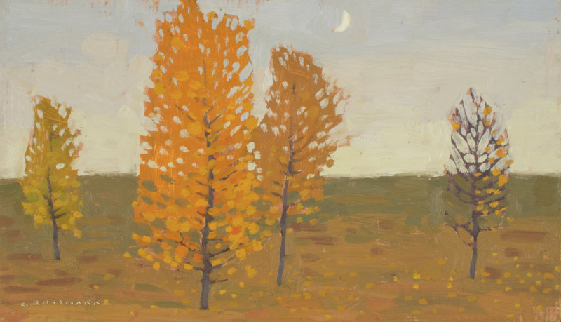 David Grossmann, Autumn Transitions with Cresent Moon