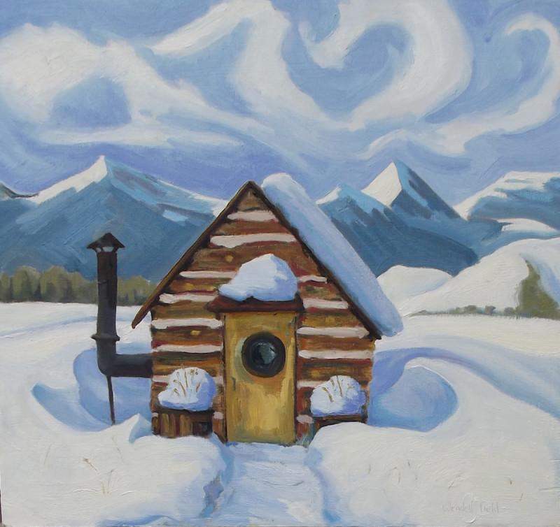 Wendell Field, The Farrier's Cabin in Winter