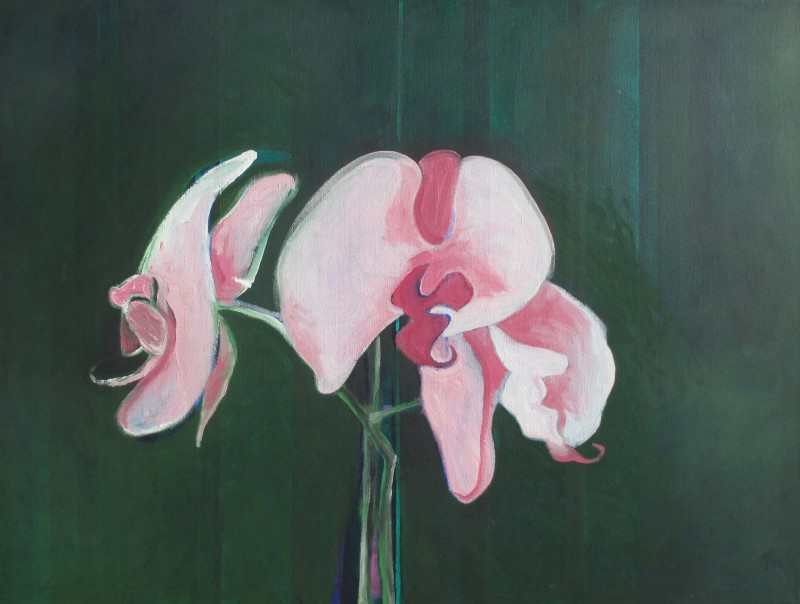 Fritz Scholder, Three Orchids, 2002