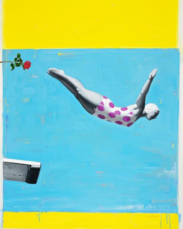 Geoffrey Gersten, Jumping Off (Swan), 2020