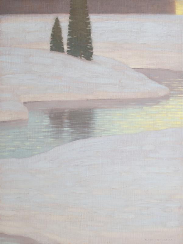 David Grossmann, Winter Dusk Reflections