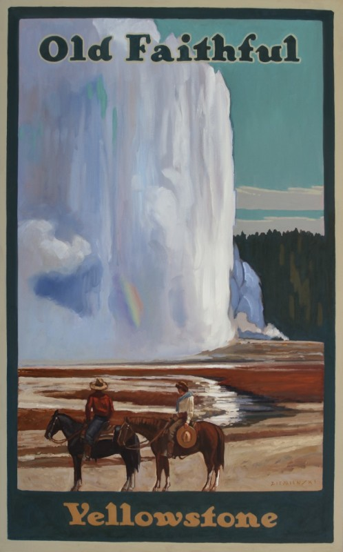 Dennis Ziemienski, Reflection at Old Faithful