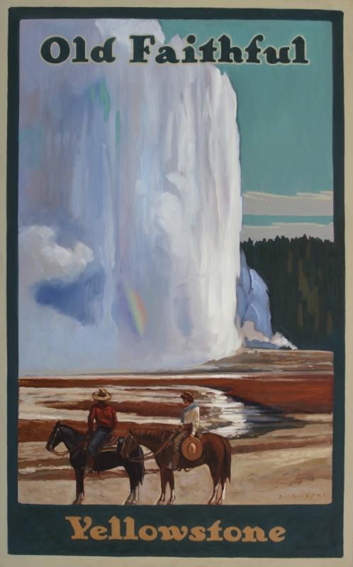 Dennis Ziemienski, Reflection at Old Faithful