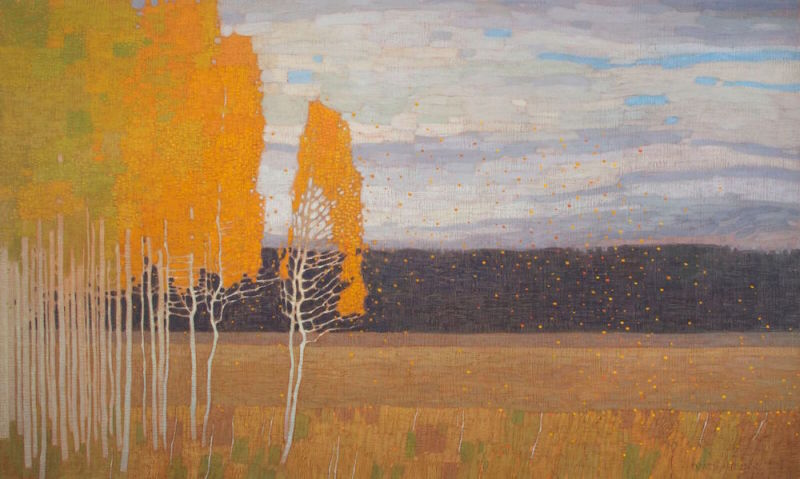 David Grossmann, Autumn Meadow with Wind