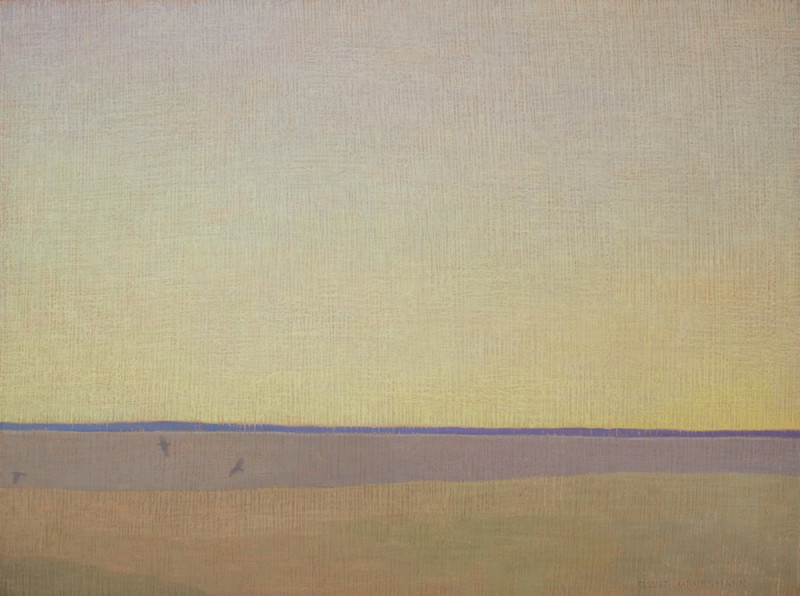 David Grossmann, Three Ravens with Blue Horizon