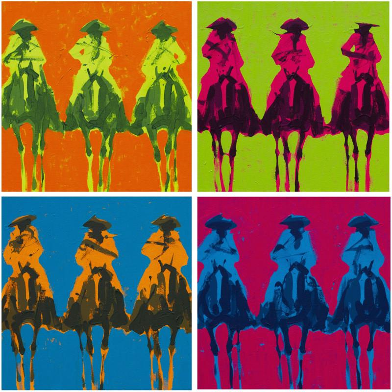 Duke Beardsley, Vaqueros Andres - Naranja, Limon, Azul, Rosa