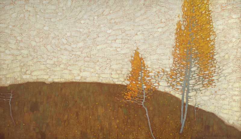 David Grossmann, Autumn Sky and Orange Leaves