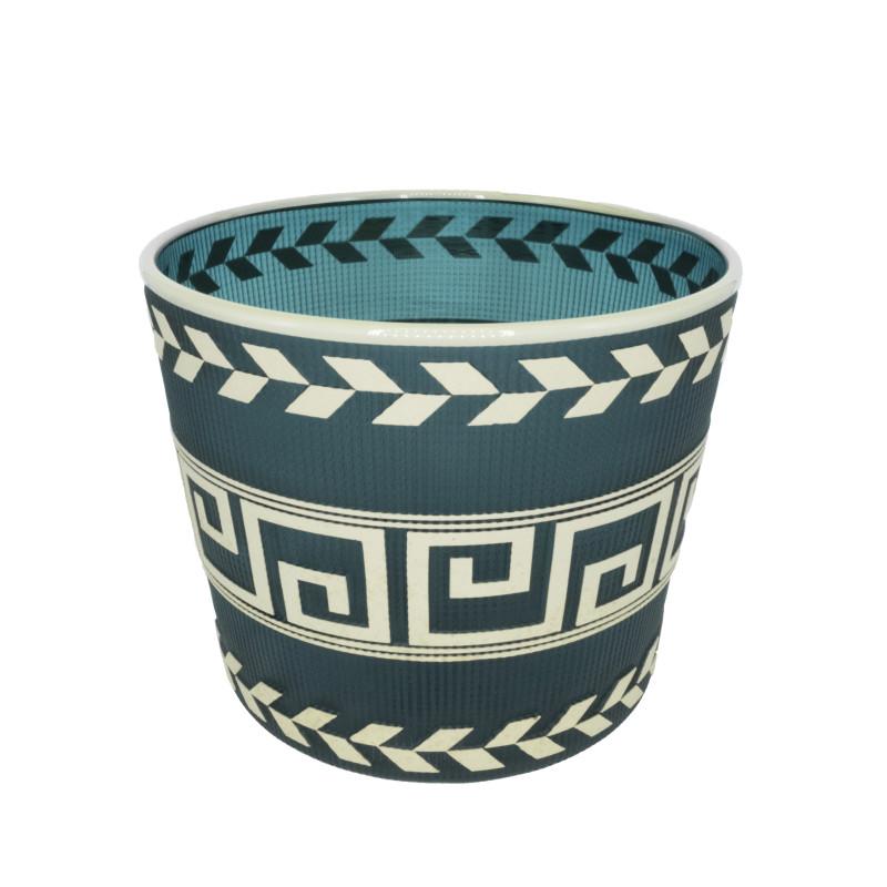 Preston Singletary, Tlingit Shelf Basket: #B19-51 Teal/Light Olive