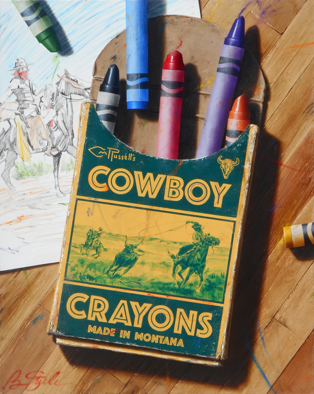 Ben Steele, CM Russell's Cowboy Crayons