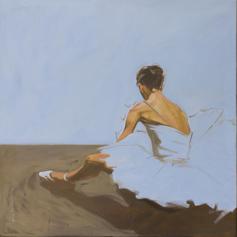 Erica Vhay, Ballerina In Blue