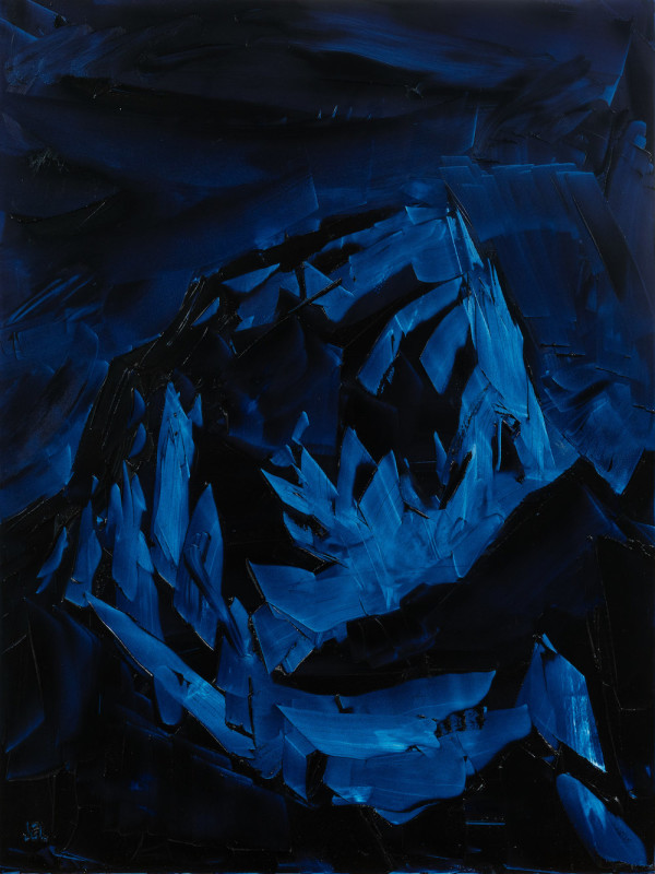 Jivan Lee, Grand Teton, ROYGBIV #3, Indigo (Prussian blue)