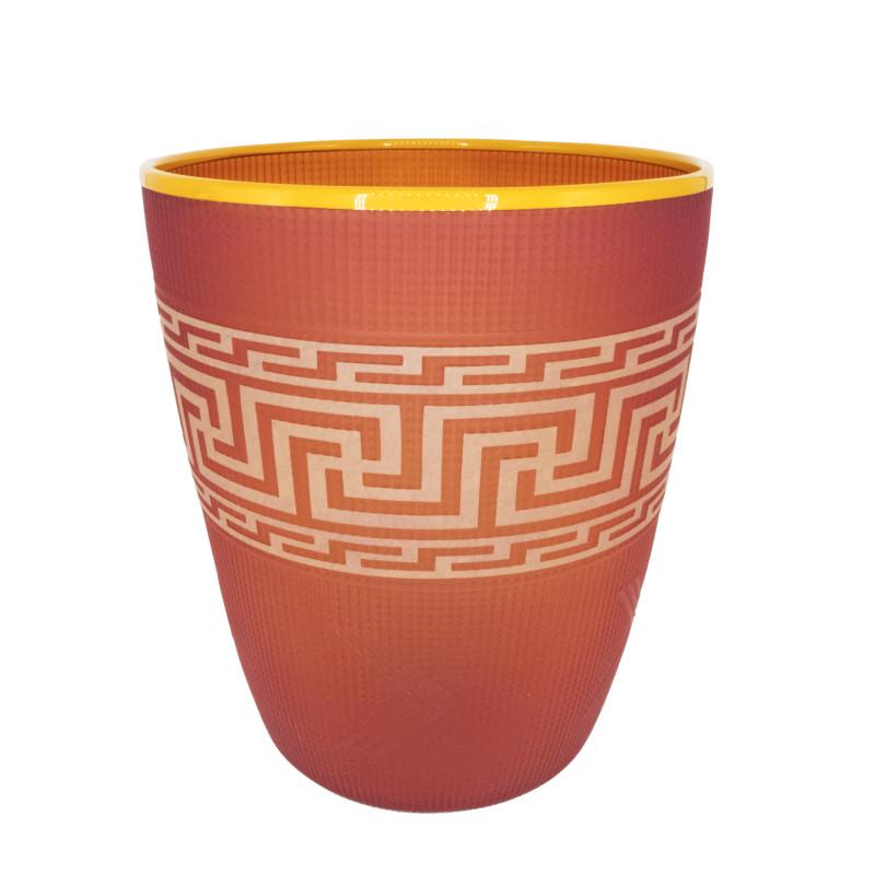 Preston Singletary - Tlingit Shelf Basket: #B19-20 Flame/Orange