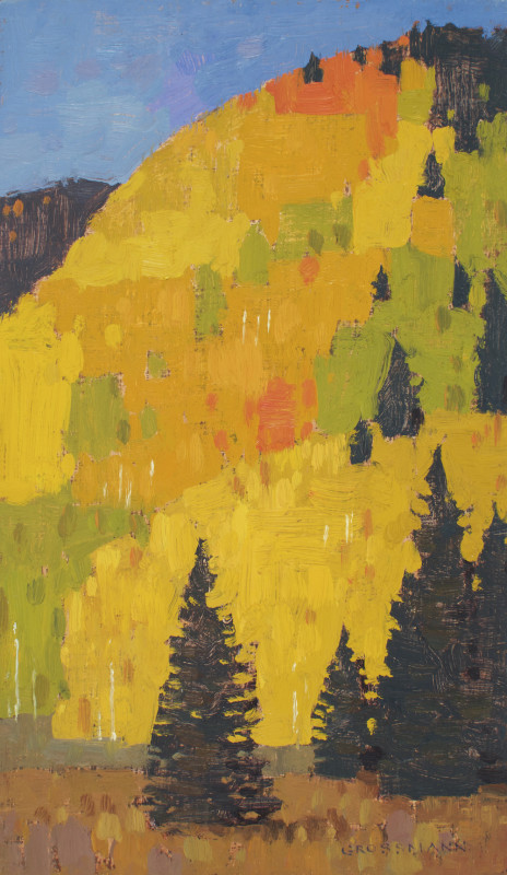 David Grossmann, Pine Trees and Bright Aspen Patches