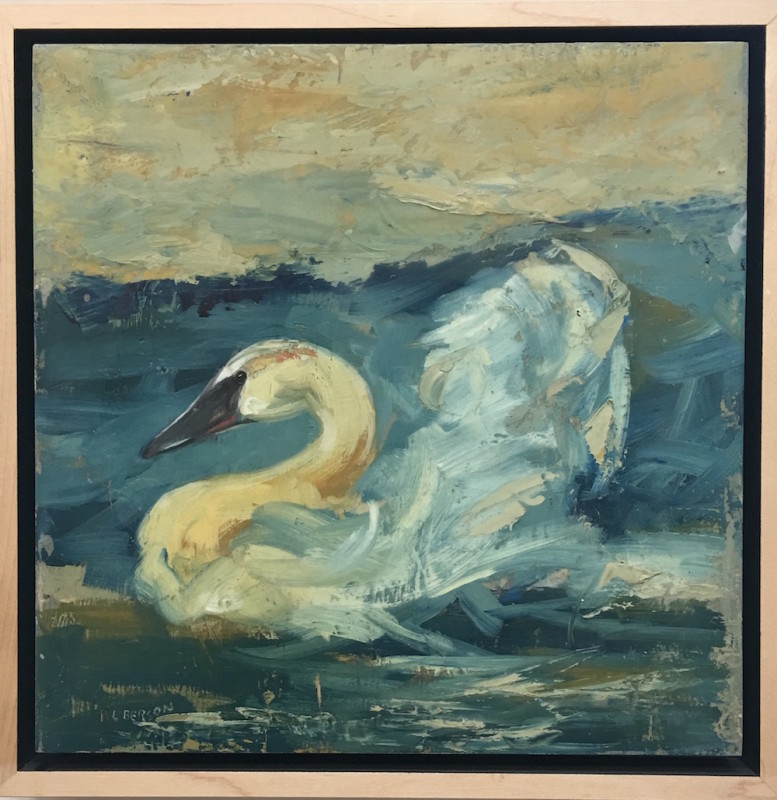 Mary Roberson, Trumpeter Swan Near Shore
