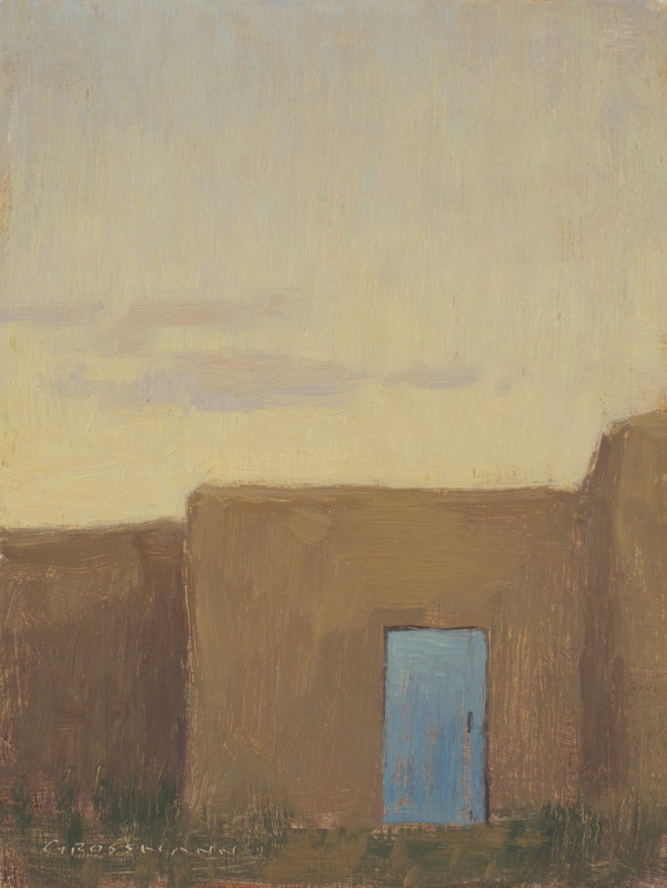 David Grossmann, Taos Door at Dusk