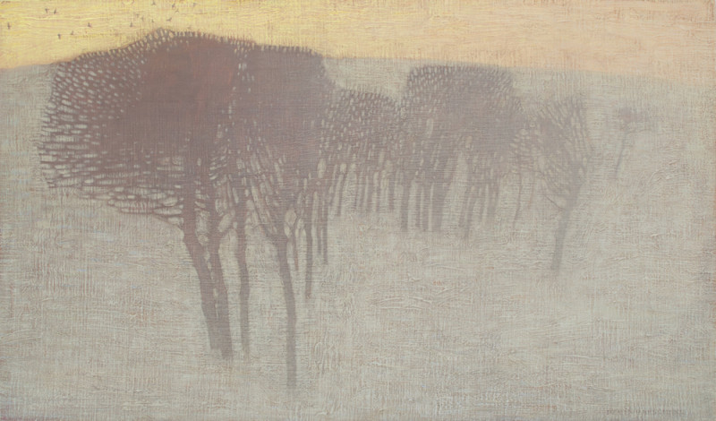 David Grossmann, Trees in Winter Morning Light