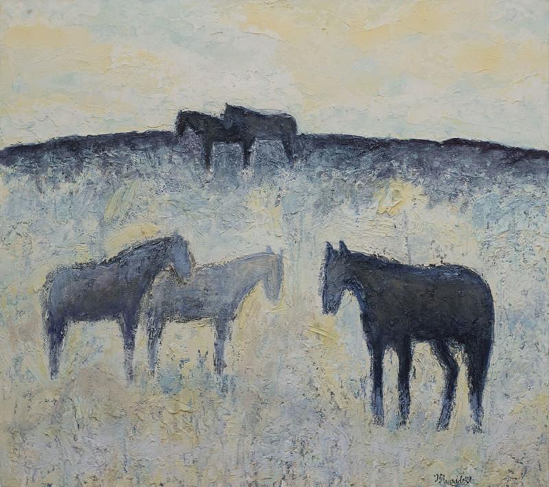 Theodore Waddell, Winter Horses #8