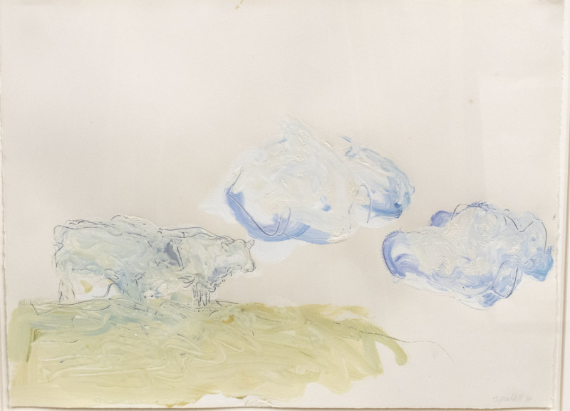 Works on Paper by Theodore Waddell, Charolais Drawing 39, 1984