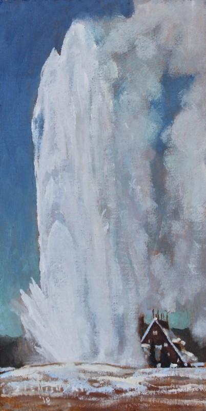 Dennis Ziemienski, Old Faithful in Snow