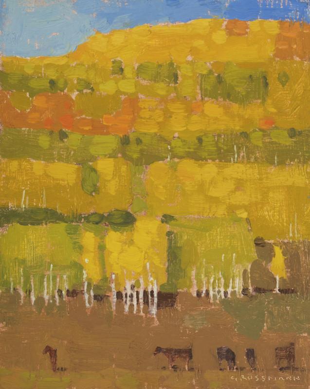 David Grossmann, Patchwork Autumn Hill with Horses