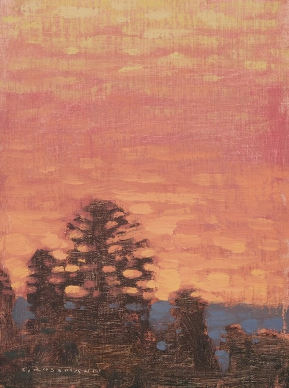 David Grossmann, Glowing Sky with Trees