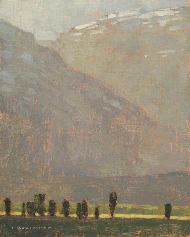 David Grossmann, Late Afternoon Light Near Antelope Flats, Study