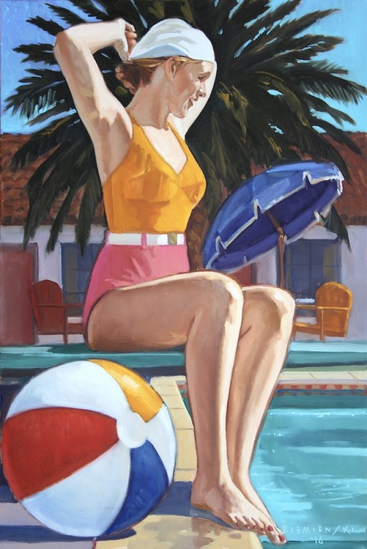 Dennis Ziemienski, The Bathing Cap