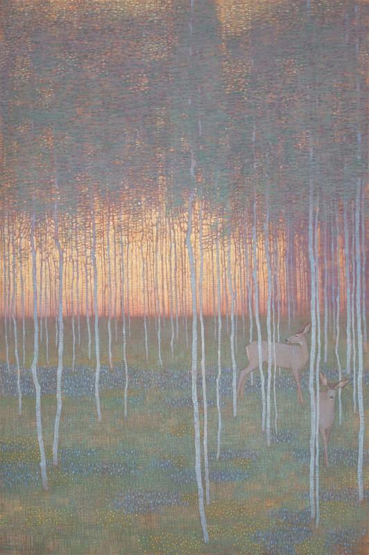 David Grossmann, Summer Evening Forest, 2020