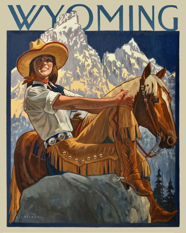 Dennis Ziemienski, Wyoming Cowgirl
