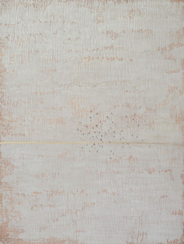 David Grossmann, Winter Horizon with Flying Birds