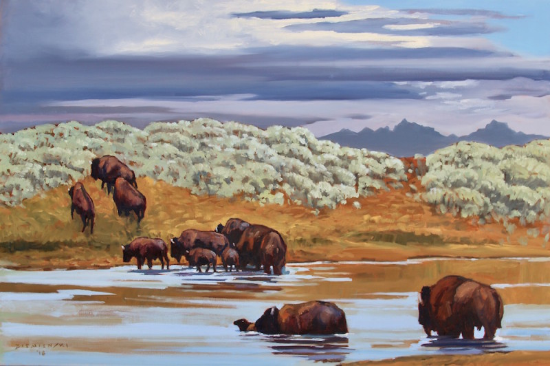 Dennis Ziemienski, Crossing the Yellowstone