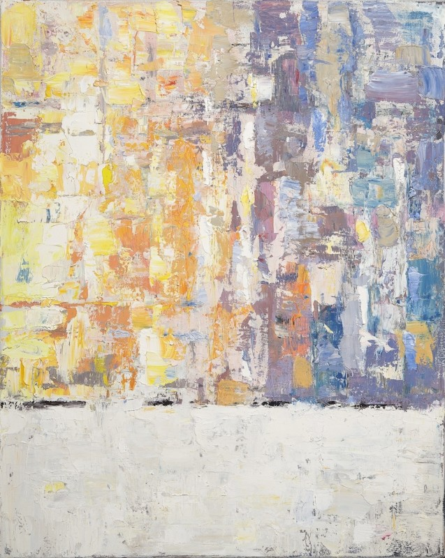 David Michael Slonim, Yellow and Blue Over White
