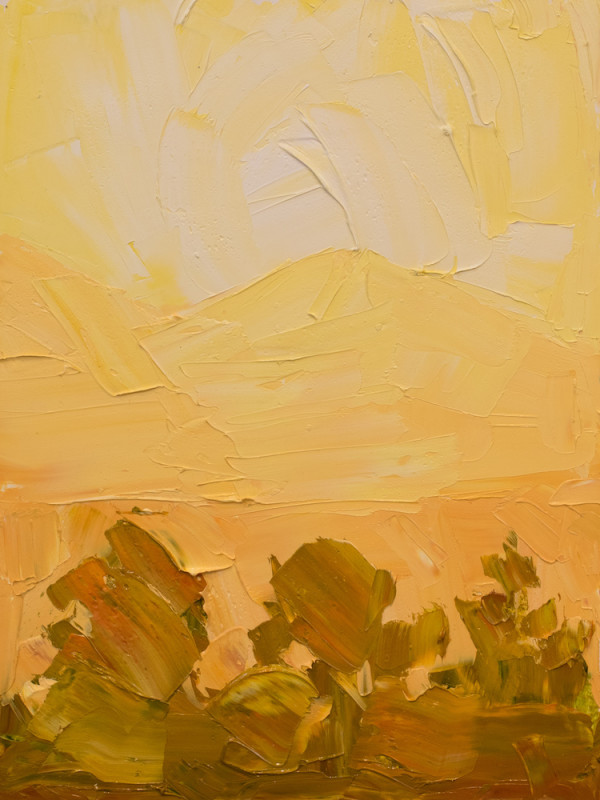 Jivan Lee, Illuminated Ridges 2- Yellow