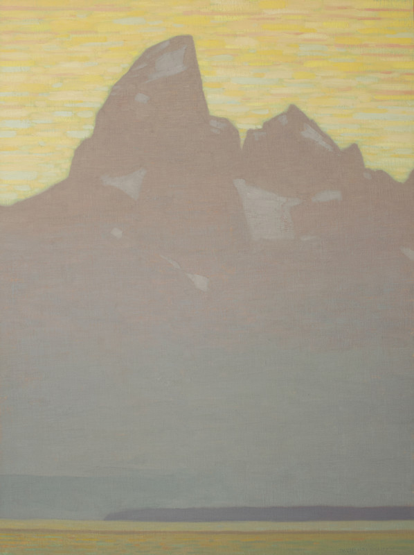 David Grossmann, Grand Teton with Pastel Sunset