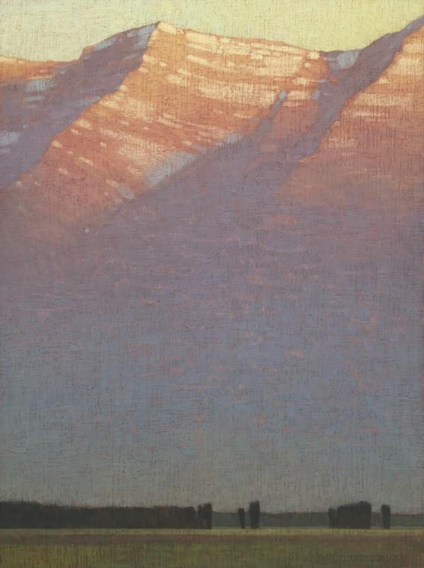 David Grossmann, First Morning Light Above the Valley