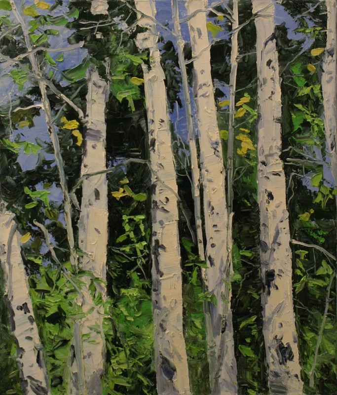 James Pringle Cook, Iron Door Aspens September #2