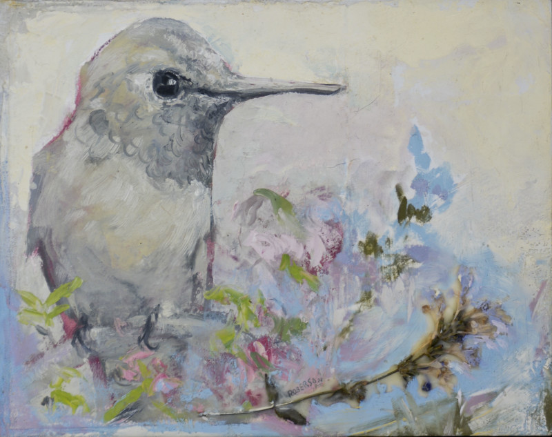 Mary Roberson, Blue Garden-Hummingbird Considered