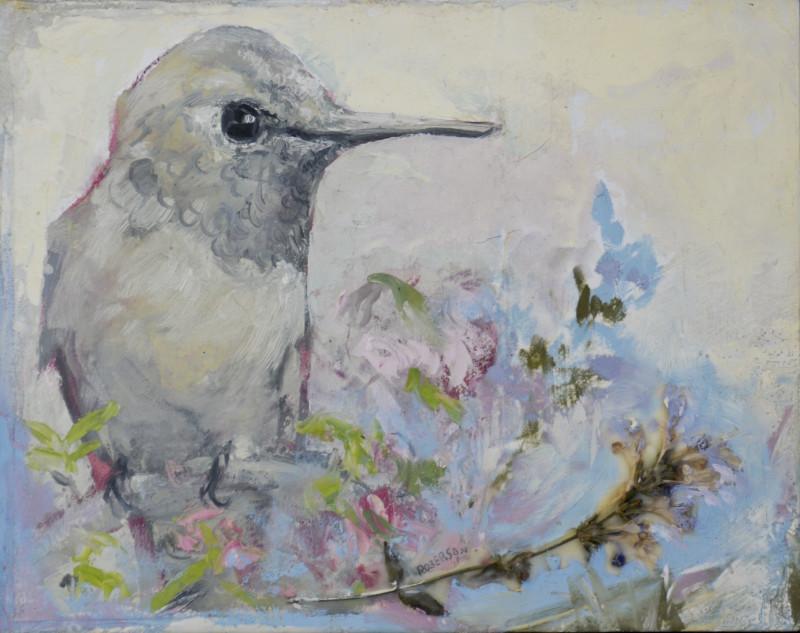Mary Roberson, Blue Garden-Hummingbird Considered