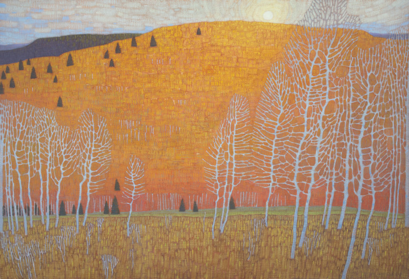 David Grossmann, Autumn Patterns and Hovering Sun