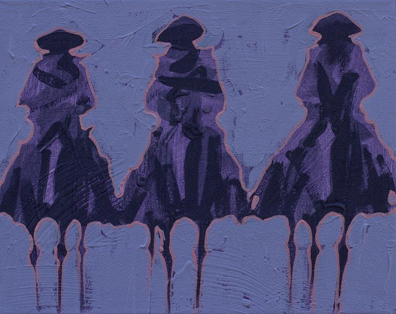 Duke Beardsley, Vaqueros Pequeños - Purple on Purple