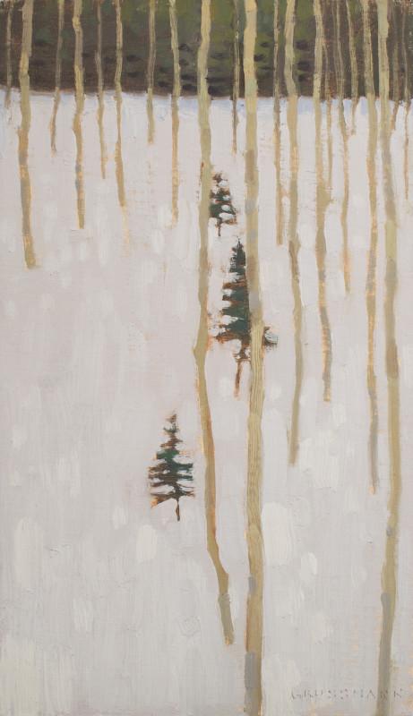 David Grossmann, Three Small Winter Pines